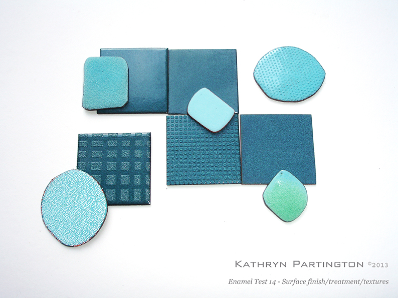 Kathryn Partington 2013 Enamel tests & placement