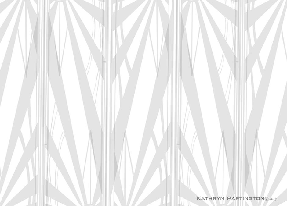 Art Deco 1930's inspired artwork, Geometic