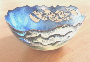 Enamel Bowl by Jackie Simmonds