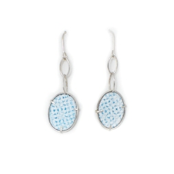 'IcedGems' - Enamel and Silver Drop Earrings by Kathryn Partington