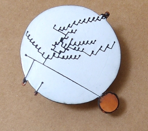 Enamel brooch by Katja Fox