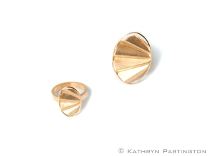 Betty Said, Gold Rings, Art Deco, Art Deco inspired rings, Kathryn Partington