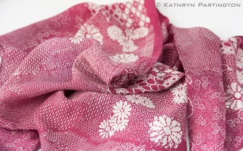 Berry Autumn, Silk, Scarf, Silk screen printed, Kathryn Partington