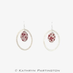 'Seasons' Berry Autumn Drop Earrings by Kathryn Partington